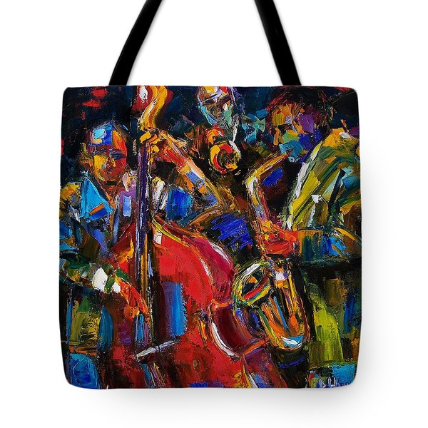 Jazz Tote Bag by Debra Hurd