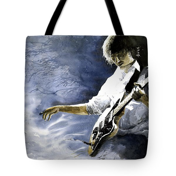 Jazz Guitarist Last Accord Tote Bag by Yuriy  Shevchuk