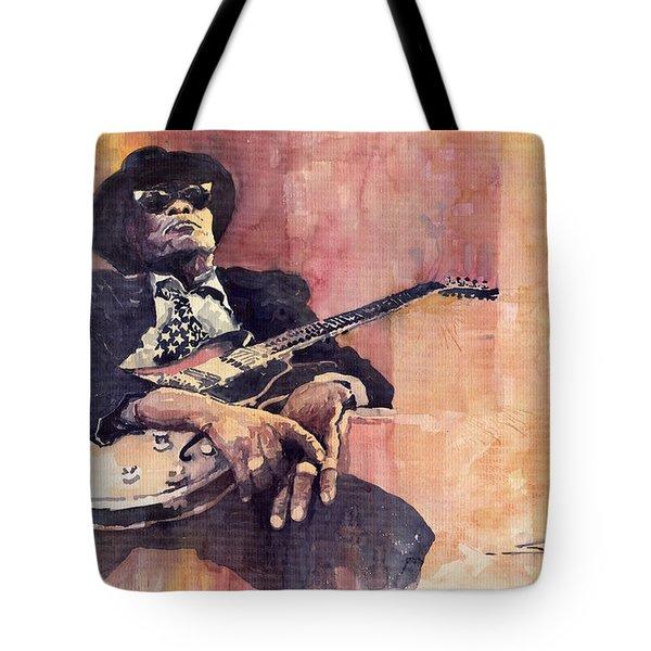 Jazz John Lee Hooker Tote Bag by Yuriy  Shevchuk