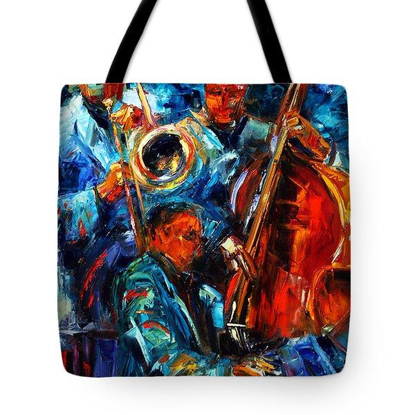 Jazz Pals Tote Bag by Debra Hurd
