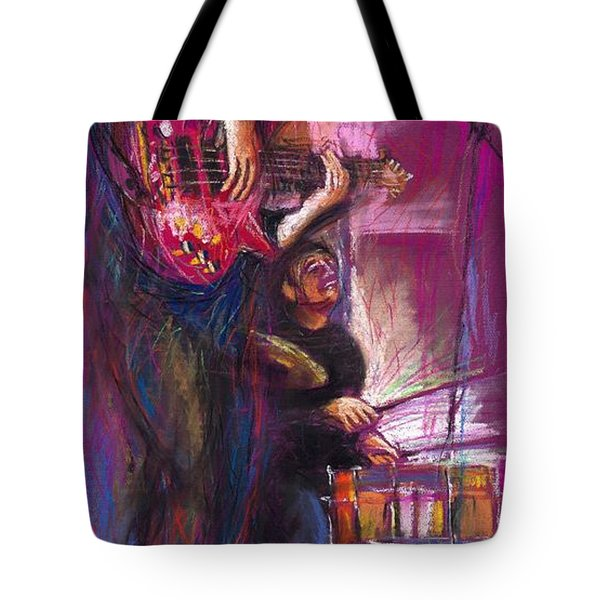 Jazz Purple Duet Tote Bag by Yuriy  Shevchuk