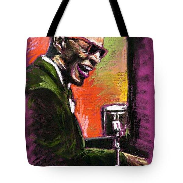 Jazz. Ray Charles.2. Tote Bag by Yuriy  Shevchuk