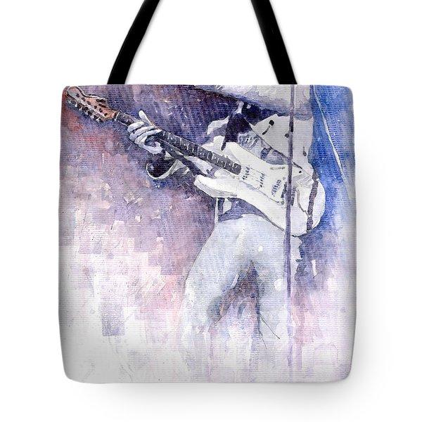 Jazz Rock Jimi Hendrix 07 Tote Bag by Yuriy  Shevchuk