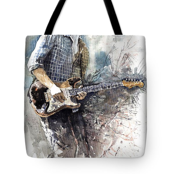 Jazz Rock John Mayer 05  Tote Bag by Yuriy  Shevchuk