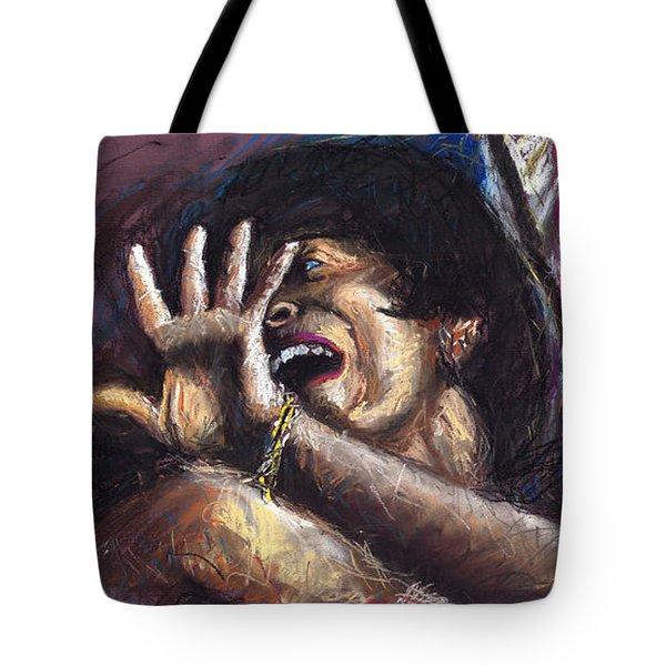 Jazz Song 1 Tote Bag by Yuriy  Shevchuk