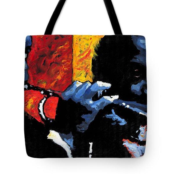 Jazz Trumpeters Tote Bag by Yuriy  Shevchuk