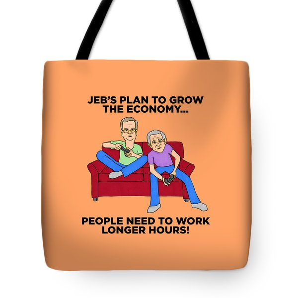 Jeb Bush Tote Bag by Sean Corcoran
