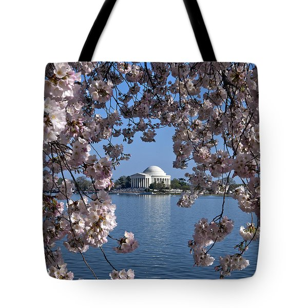 Jefferson Memorial on the Tidal Basin DS051 Tote Bag by Gerry Gantt