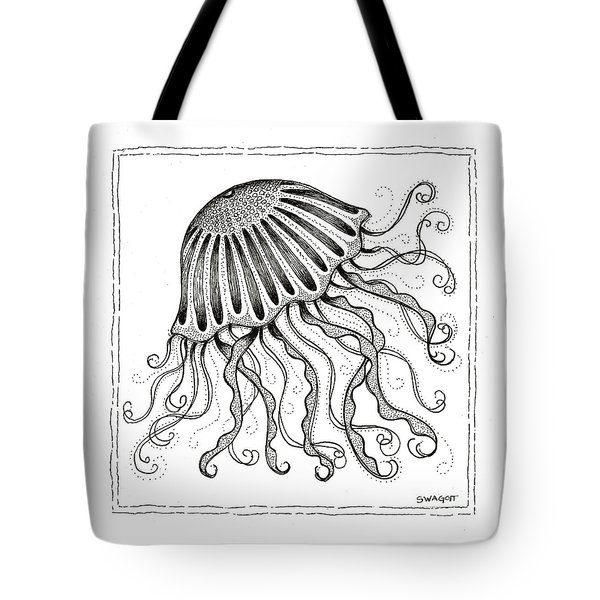 Jelly Fish Tote Bag by Stephanie Troxell