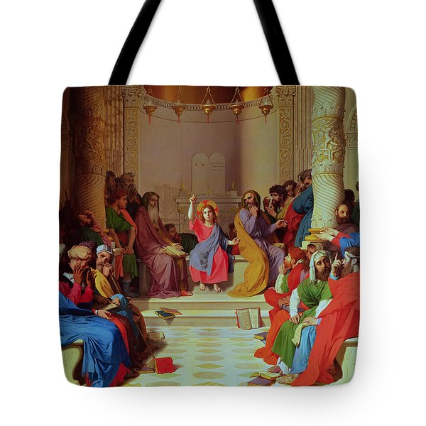 Jesus Among The Doctors Tote Bag by Ingres