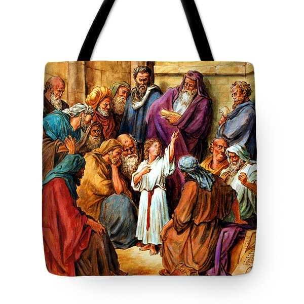 Jesus as a Child Tote Bag by John Lautermilch