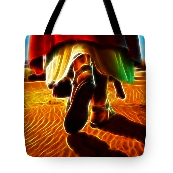 Jesus Christ Carrying Me In His Arms Tote Bag by Pamela Johnson
