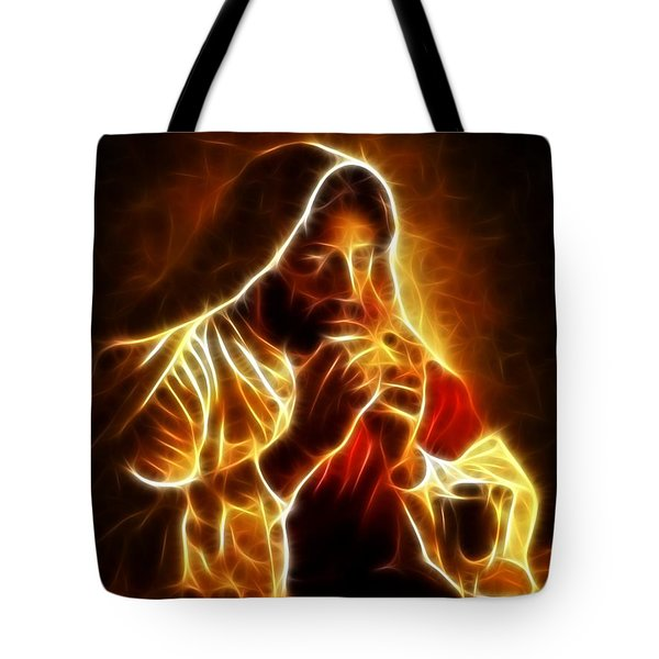 Jesus Christ Last Supper Tote Bag by Pamela Johnson