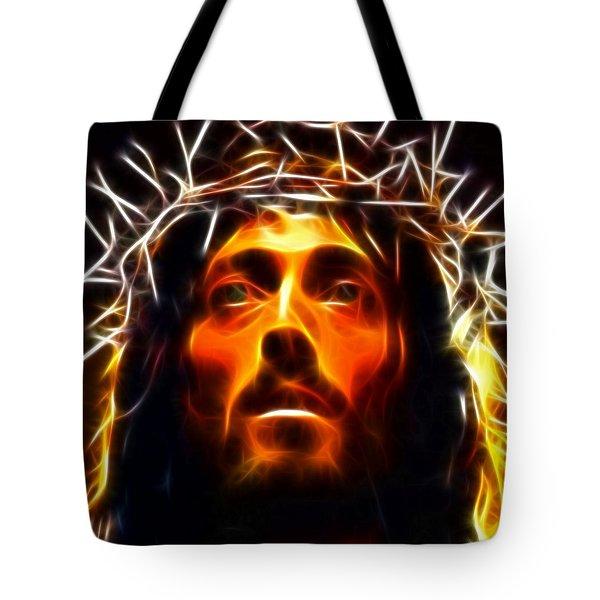 Jesus Christ The Savior Tote Bag by Pamela Johnson