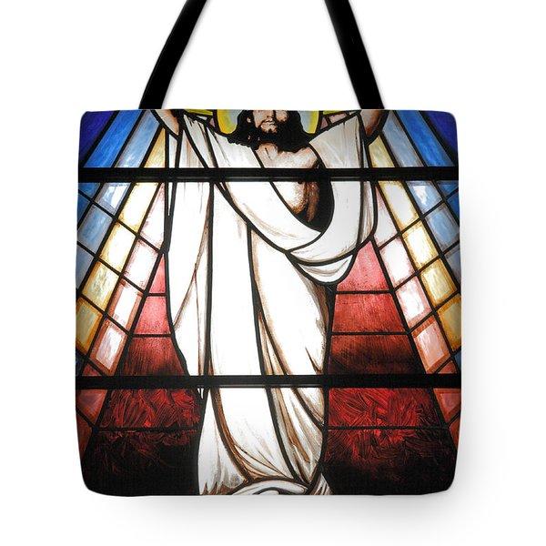 Jesus Is Our Savior Tote Bag by Gaspar Avila