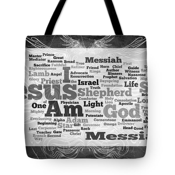 Jesus Messiah Tote Bag by Angelina Vick