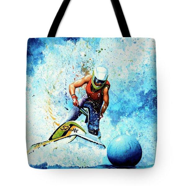 Jet Blue Tote Bag by Hanne Lore Koehler