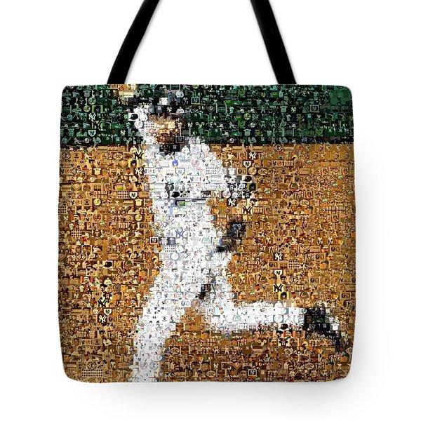 Jeter Walk-Off Mosaic Tote Bag by Paul Van Scott