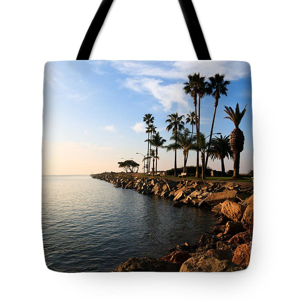 Jetty on Balboa Peninsula Newport Beach California Tote Bag by Paul Velgos