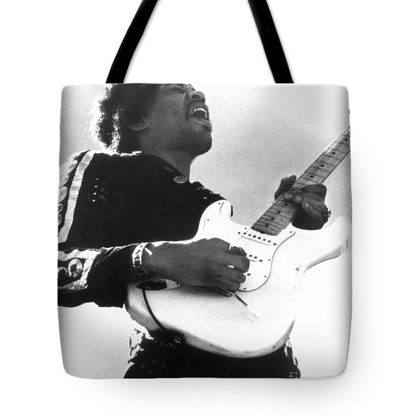 Jimi Hendrix (1942-1970) Tote Bag by Granger