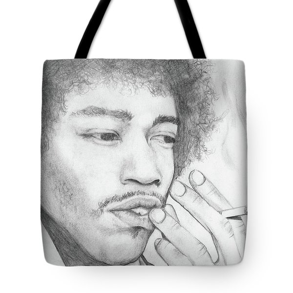 Jimi Hendrix Artwork Tote Bag by Roly Orihuela