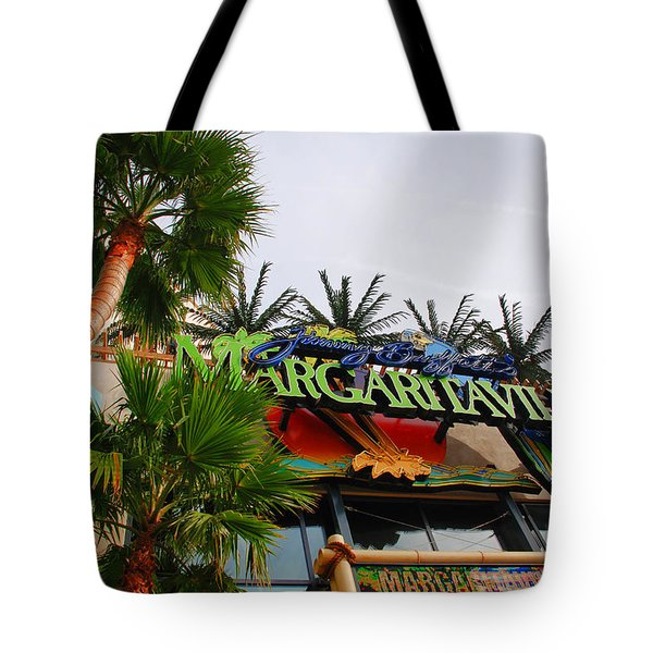 Jimmy Buffets Margaritaville in Las Vegas Tote Bag by Susanne Van Hulst