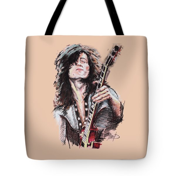 Jimmy Page Tote Bag by Melanie D