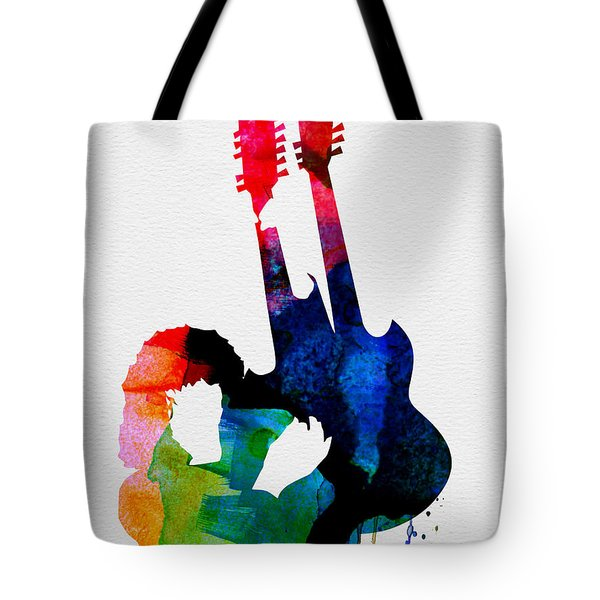 Jimmy Watercolor Tote Bag by Naxart Studio