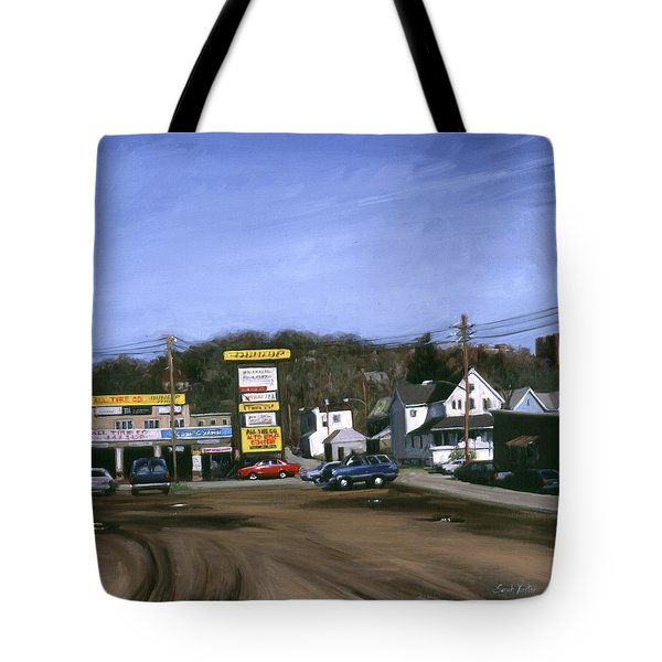 Jimmy's Alltire Tote Bag by Sarah Yuster