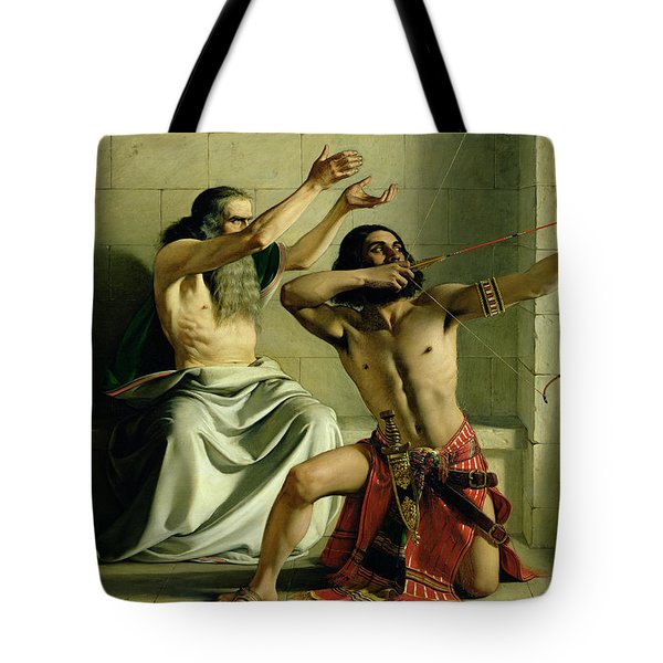 Joash Shooting The Arrow Of Deliverance Tote Bag by William Dyce