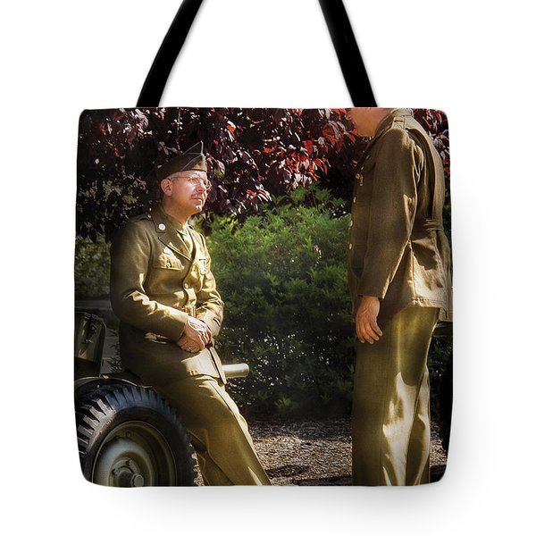 Job - Army - Remembrance  Tote Bag by Mike Savad