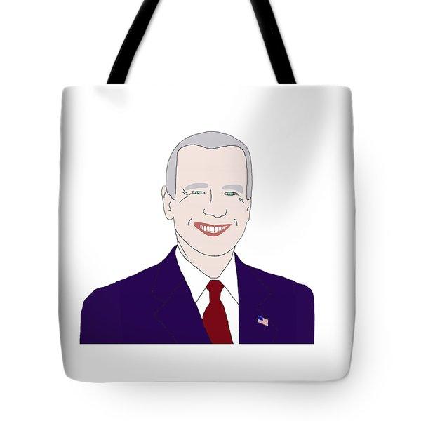 Joe Biden Tote Bag by Priscilla Wolfe