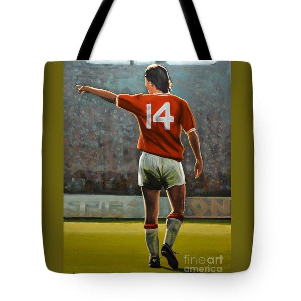 Johan Cruyff Oranje Nr 14 Tote Bag by Paul Meijering