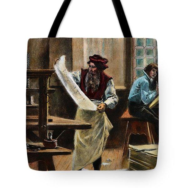 Johann Gutenberg Tote Bag by Granger