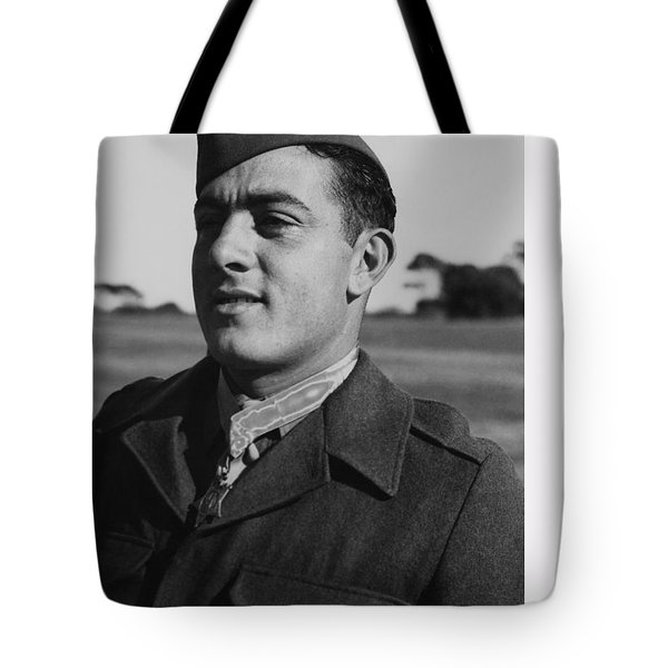 John Basilone Tote Bag by War Is Hell Store
