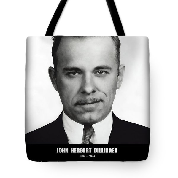 JOHN DILLINGER -- Public Enemy No. 1 Tote Bag by Daniel Hagerman