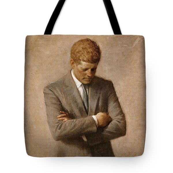 John F Kennedy Tote Bag by War Is Hell Store