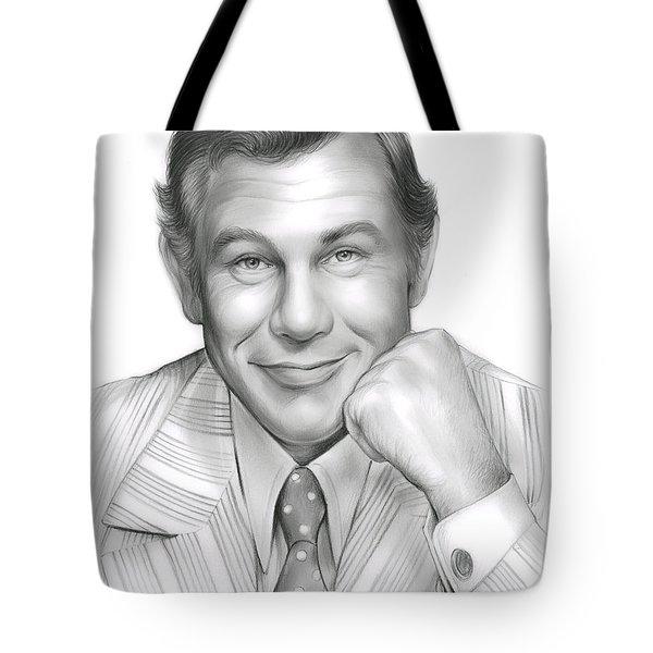 Johnny Carson Tote Bag by Greg Joens