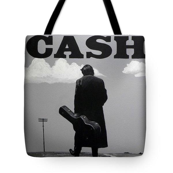 Johnny Cash Tote Bag by Tom Carlton