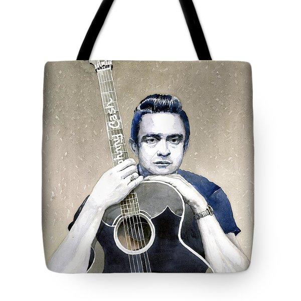Johnny Cash Tote Bag by Yuriy  Shevchuk