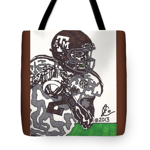 Johnny Manziel 8 Tote Bag by Jeremiah Colley