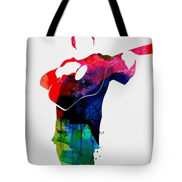 Johnny Watercolor Tote Bag by Naxart Studio