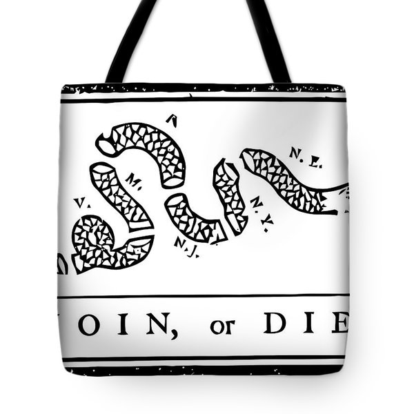 Join or Die Tote Bag by War Is Hell Store