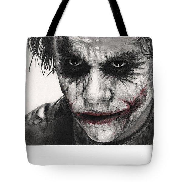 Joker Face Tote Bag by James Holko
