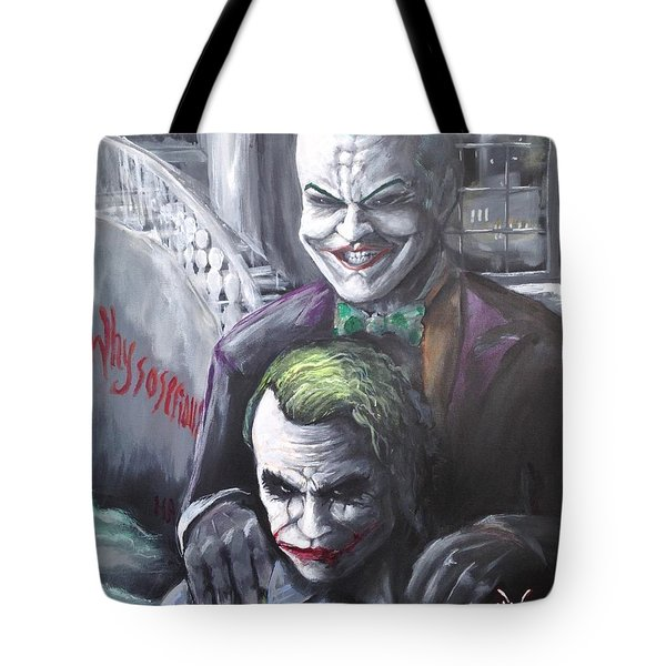 Jokery In Wayne Manor Tote Bag by Tyler Haddox