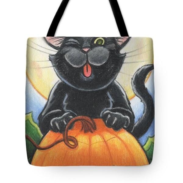 Jolly Ollie Halloween Tote Bag by Amy S Turner