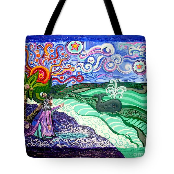 Jonah and The Whale Tote Bag by Genevieve Esson