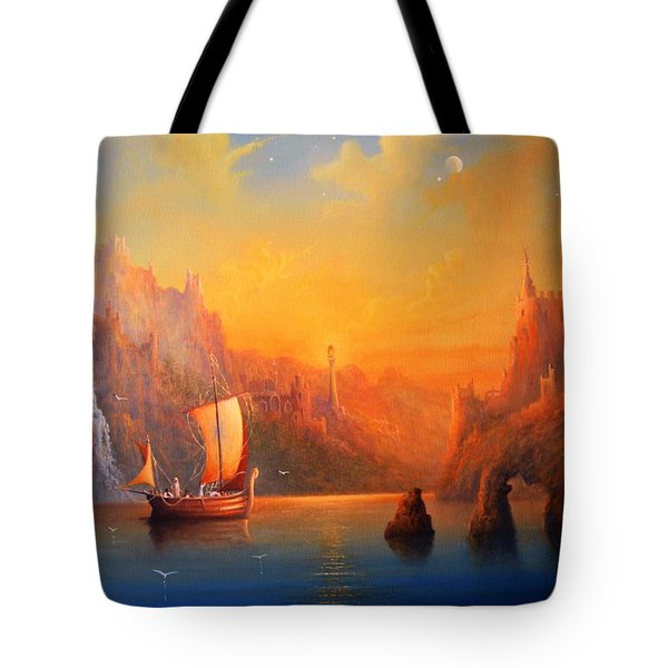 Journey To The Undying Lands Tote Bag by Joe  Gilronan
