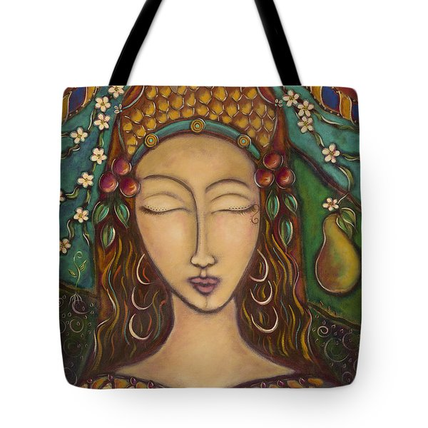Joy And The Pear Tree Tote Bag by Nancy Harris