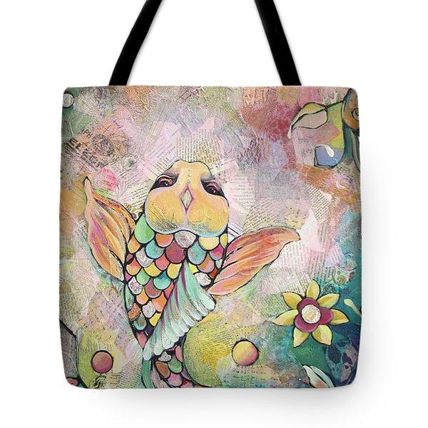 Joyful Koi I Tote Bag by Shadia Derbyshire